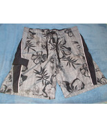 Mens OP Swim Shorts Trunks size XL 40-42 Grey F... - $18.81