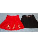 George Red Velvet Skirt & Little Me Black Cordu... - $14.85