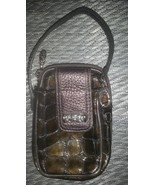 Brighton Croc Leather Cell Phone Holder Wallet ... - $19.99