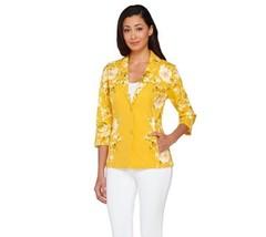 Isaac Mizrahi Placed Stylish Floral Printed Kni... - $59.38