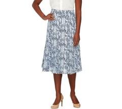 Dennis Basso Chic Snake Print Woven Skirt Side ... - $49.48