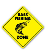 BASS FISHING ZONE Sign xing gift novelty fish p... - $8.89