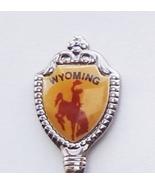 Collector Souvenir Spoon USA Wyoming Rodeo Cowb... - $8.98