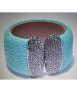 RC BY ADRIENNE EXOTIC STINGRAY EMBOSSED CUFF BR... - $25.00