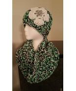 Green,  Black & White Handmade Triple Yarn Hat ... - $50.00