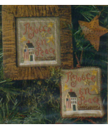 CLEARANCE 2002 Sampler Ornament Rejoice In Peac... - $3.00