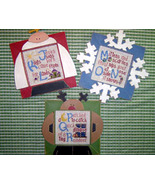 CLEARANCE Winter Alphabet JKL MNO PQR stitch ch... - $3.00