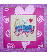 CLEARANCE Love cross stitch chart charms Mt For... - $3.00