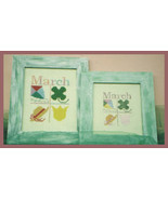 CLEARANCE March Squares OOP cross stitch chart ... - $3.00