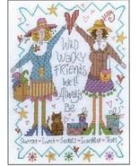 CLEARANCE Wacky Friends cross stitch chart Imag... - $2.50