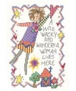 CLEARANCE Wacky Woman cross stitch chart Imagin... - $2.50