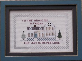 CLEARANCE House Of A Friend cross stitch chart ... - $3.00