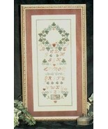 CLEARANCE Ivy and Heart Sampler cross stitch ch... - $3.00