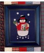 CLEARANCE Patchwork Snowman cross stitch chart ... - $5.50
