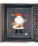 CLEARANCE Patchwork Santa cross stitch chart wi... - $5.50