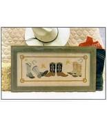 CLEARANCE Cowboy Boots cross stitch chart Annal... - $3.00