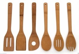 Wooden Kitchen Utensil Bamboo Cooking Tools 6 P... - $7.70