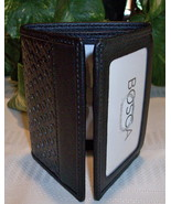Bosca Mens Double I.D. Leather ID Wallet Trifol... - $44.00