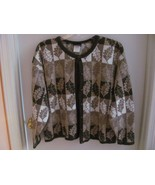 VINTAGE SOUTHERN LADY CARDIGAN SWEATER S-XL-LEA... - $8.00