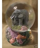 VTG GREY ELEPHANT SNOWDOME MUSIC BOUGHT 1981 5 ... - $15.00