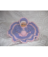 VINTAGE HAND MADE EMBROIDERED DOLL-PURPLE-LAVEN... - $8.00