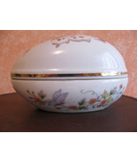 EASTER=VINTAGE AVON EGG TRINKET BOX WITH BUTTER... - $8.00