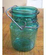 VINTAGE PINT BLUE BALL JAR-EAGLE-IDEAL-CANNING-... - $9.00