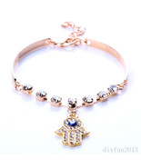 OBEY ME POWER MAGICKAL  HAMSA GOLD PLATED  BRAC... - $148.75