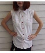 Vintage Sleeveless White Top Primstyle 60s Cris... - $19.99