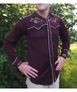 40s Vintage Miller Western Shirt Mens Embroider... - $159.99