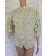 Floral Blouse Vintage 70s Print Top Hippie Secr... - $8.99