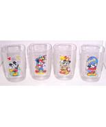 4 Disney Glass Epcot Animal Magic Kingdom Colle... - $69.95