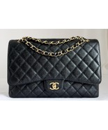 CHANEL Black CAVIAR Quilted Leather Classic XL ... - $5,246.01