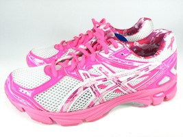 Asics Womens GT 1000 3 GS PR Running Shoes Whit... - $82.17