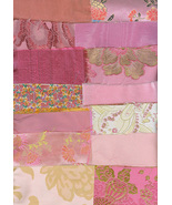 Victorian Crazy Quilt Kit Pinks Brocade Silk Ve... - $19.99