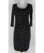 ANN TAYLOR LOFT Polka Dots Ruched Wiggle Draped... - $24.99