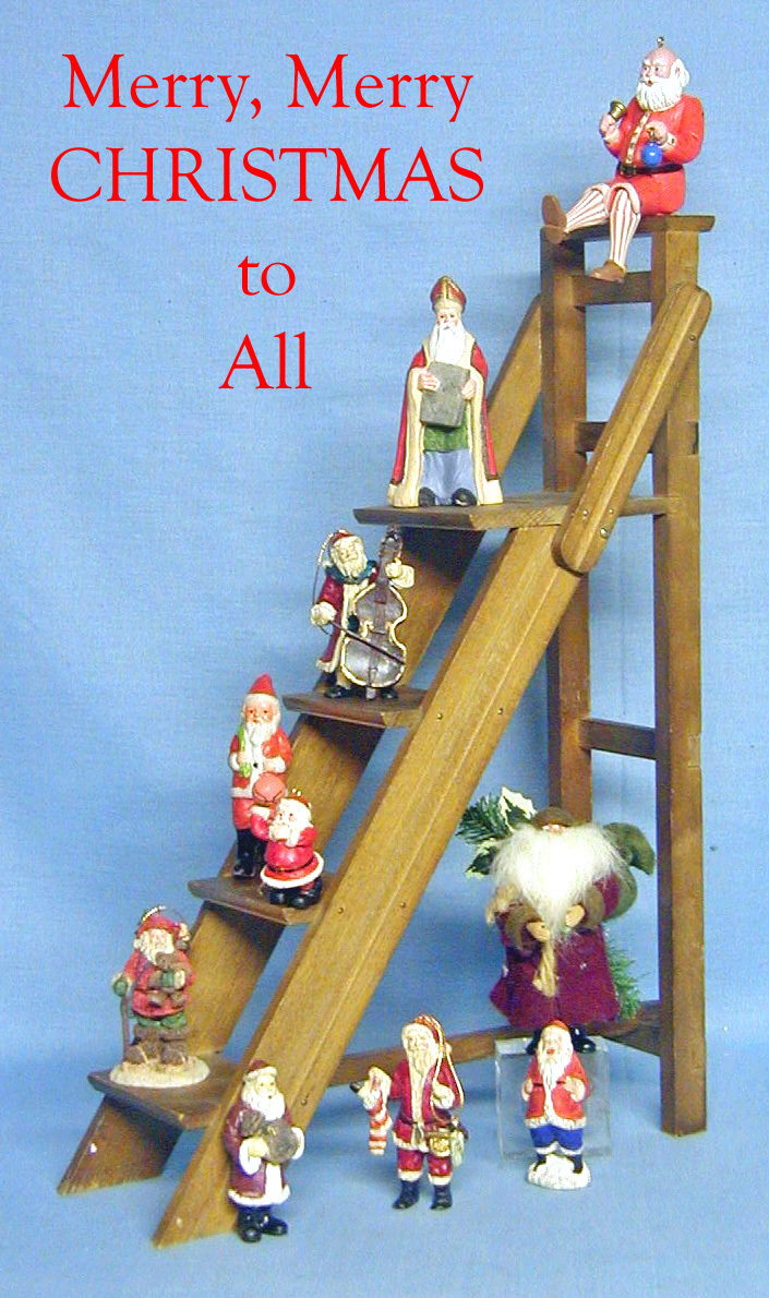Santa on a Ladder
