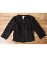 Anthropologie Elevenses Black Petal Collar 3/4 ... - $28.95