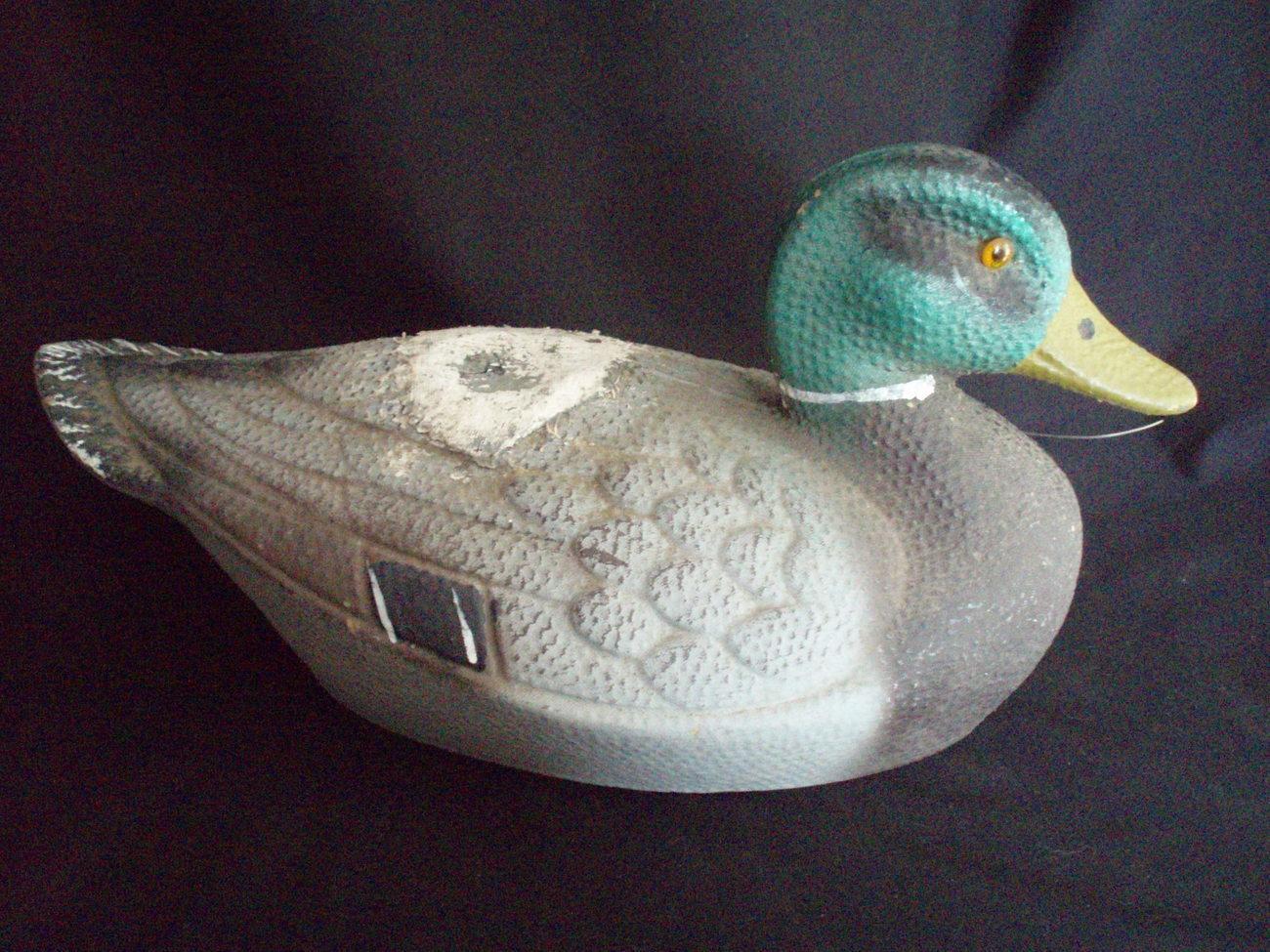 Ariduk duck decoy fiber mallard vintage