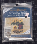 Mill Hill Buttoned and Beaded Country Magnet Ki... - $5.00