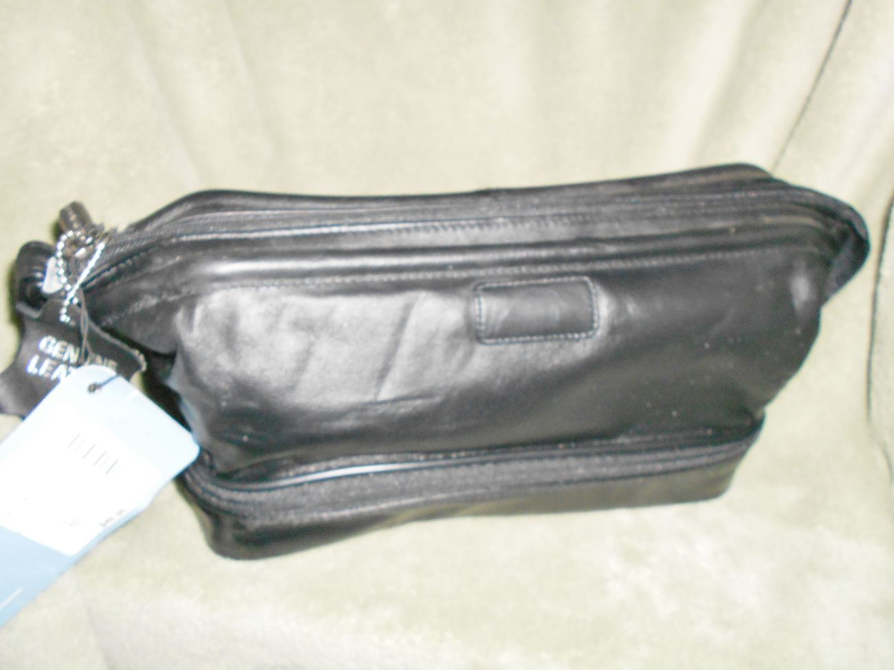 Protocol Genuine Leather Men  Travel Toiletry Kit Bag  by JC Penny