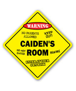 CAIDEN'S ROOM SIGN kids bedroom decor door chil... - $8.89