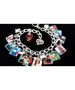 CUSTOM PHOTO Charm Bracelet YOUR PHOTOS Persona... - $36.99