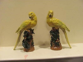Vintage Porcelain Yellow Birds (sitting on a st... - $87.22