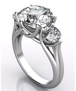 3 stone diamond engagement ring trellis style 4... - $26,235.00