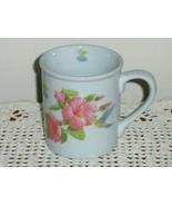 Hummingbird Coffee Cup Tea Mug with Pink Flowers - $14.97