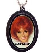 Eat Poop Necklace Pendant Retro Humor Funny Pin... - $8.90