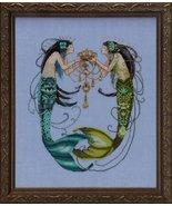 The Twin Mermaids MD141 cross stitch chart Mira... - $13.95