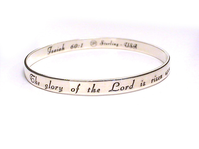 SERENITY PRAYER Silver Scripture Bangle Bracelet | eBay