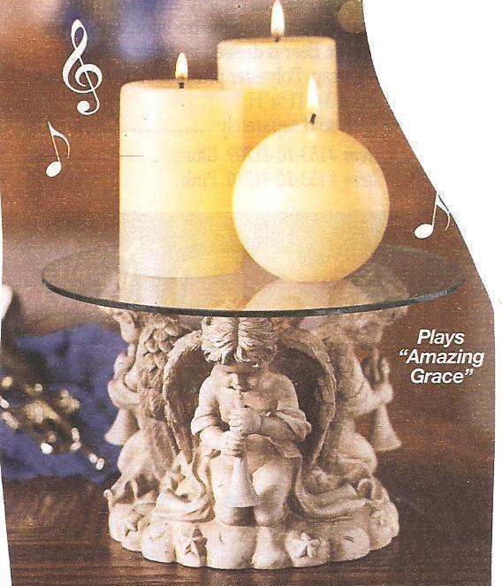 Cherubs Musical Candle Pedestal